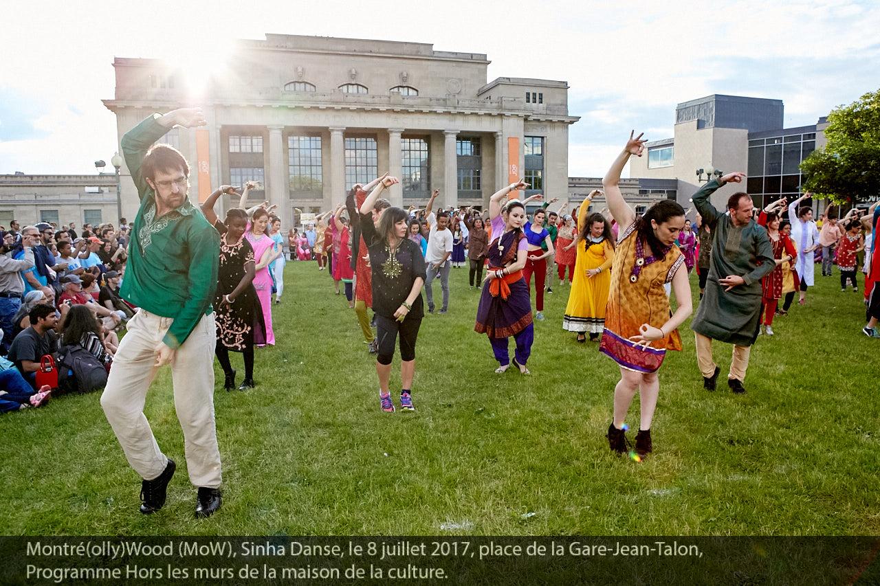 Montré(olly)Wood (MoW), Sinha Danse, le 8 juillet 2017, place de la Gare Jean-Talon, Programme Hors les murs de la Maison de la culture.